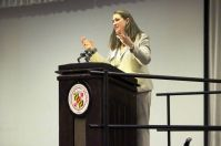 UMBC Shriver Center Program Coordinator Lori Hardesty chaired the conference.