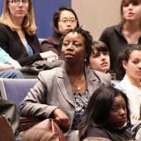 UMBC doctoral student Shawntay Stocks, Coordinator for Service-Learning and Internships at Carroll Community College.