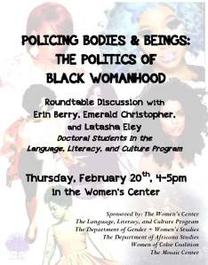Policing Bodies & Beings: The Politics of Black Womanhood (2/20)