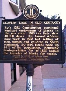 Louisville Historical Marker