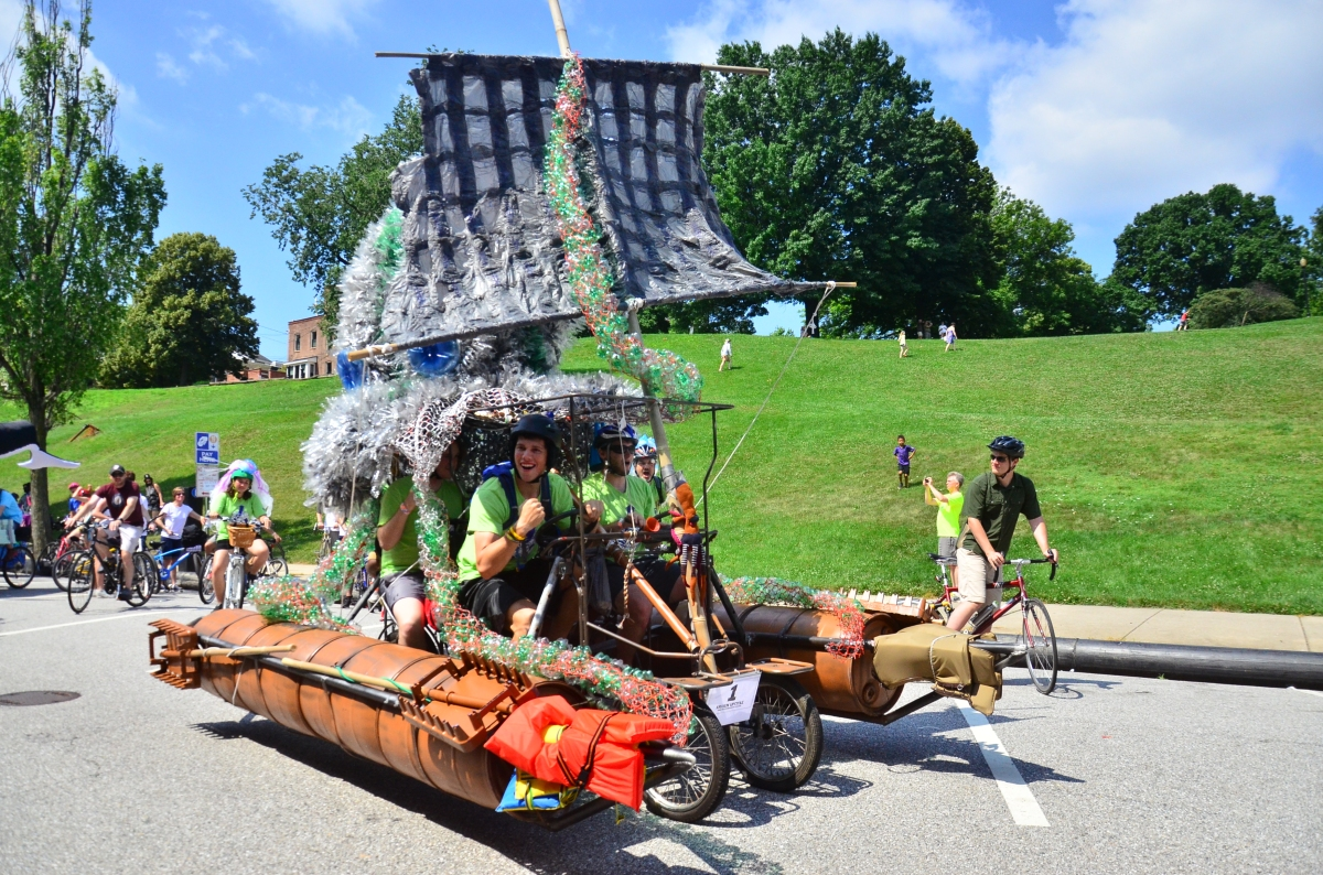UMBC Kraken Upcycled Sculpture/ Drum Circle/ Solar @Artscape (7/17)