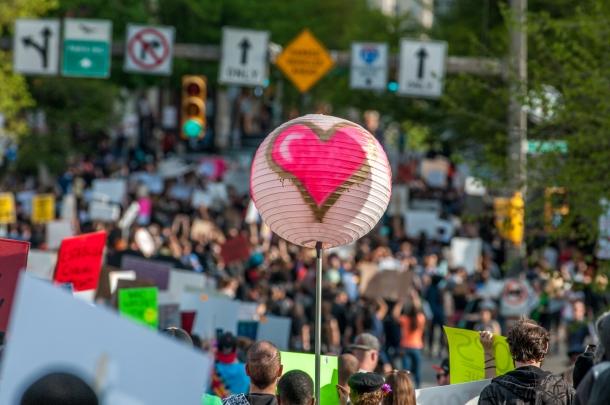 Imagining America Heart Balloon